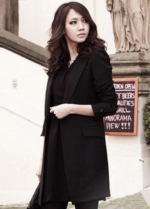 Мега стильный удлиненный пиджак/блейзер