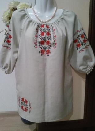 Вышиванка. блуза с вышивкой в этно стиле. вышитая блузка.