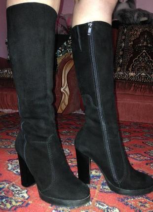 Продам жіночі зимові замшеві чоботи.женские зимние сопоги.