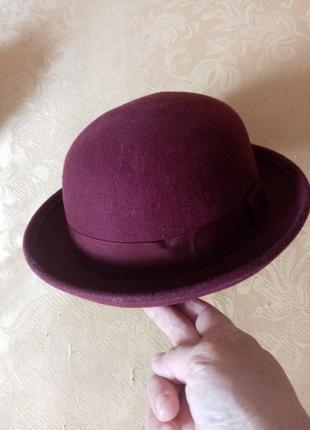 Женская шляпа жіночий капелюх  100% шерсть3 фото