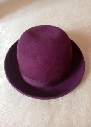 Женская шляпа жіночий капелюх  100% шерсть2 фото