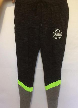 Спортивные брюки pink victoria's secret оригинал штаны спорт фитнес для бега