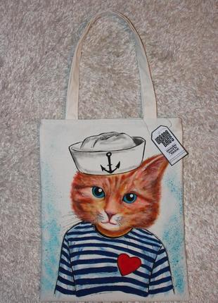 Сумка с рисунком кот-моряк