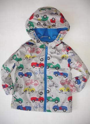 Фирменная f&f легкая куртка ветровка мальчику на годик на флисе