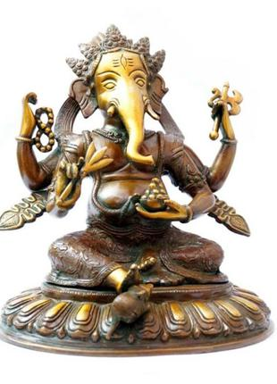 Статуэтка бронзовая непальская ганеш - непал