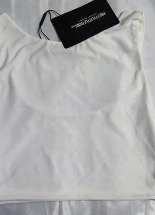 Топ prettylittlething, размер s, белый6 фото