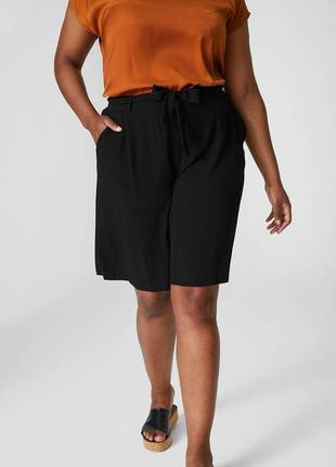 Женские шорты jessica (c&a), размер 3xl, черные