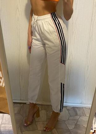 Белые спортивные штаны adidas спортивки винтажные vintage1 фото