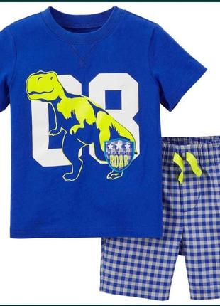 Комплект летний картерс 2т шорты футболка