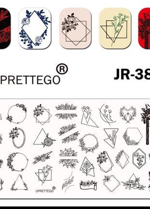 Красивая качественнач пластина для стемпинга ногтей маникюра дизайна