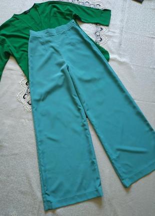 Стильные палаццо штаны свободного кроя с высокой талией