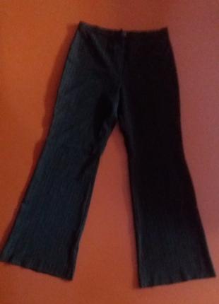 Красивые, утепленные темно-коричневые брюки на флисе.