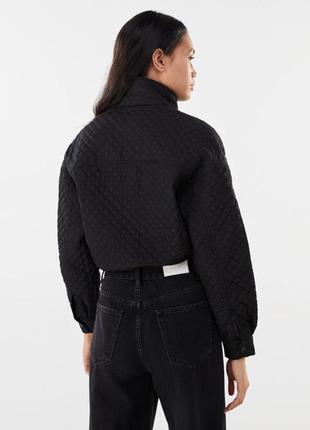 Куртка чёрная bershka в наличии новая5 фото