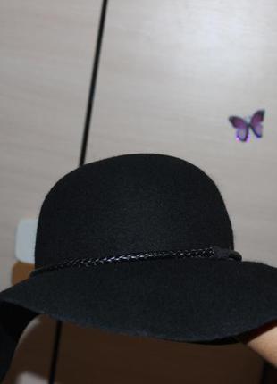 Супер стильная шырокополая шляпа , h&m