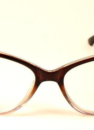 """Модные имиджевые """"кошечки"""" очки для зрения с диопт."""