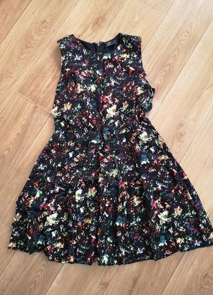 Платье с пышной юбкой с карманами