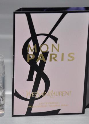 Пробник yves saint laurent mon paris женская парфюмерия оригинал