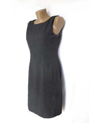 Стильное и строгое серое платье футляр (s,m)