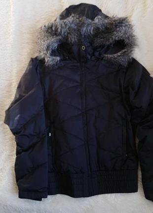 Черная пуховая куртка columbia