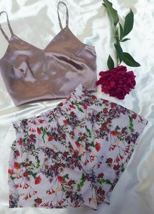 Пижама с шортами, домашний комплект, комплект для отдыха