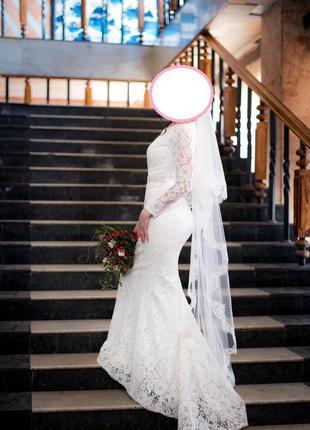 Свадебное платье из французкого кружева3 фото