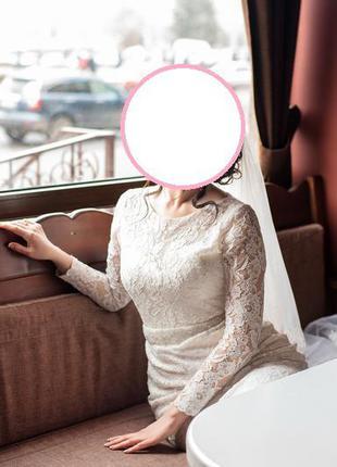 Свадебное платье из французкого кружева4 фото