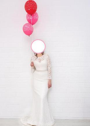 Свадебное платье из французкого кружева5 фото