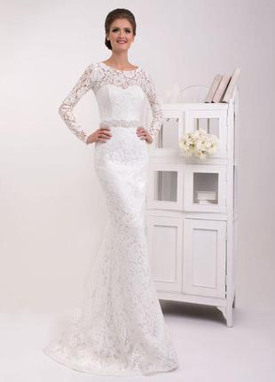 Свадебное платье из французкого кружева