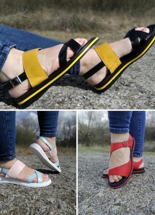 Суперціна!!!стильні босоніжки з натуральної шкіри. р-ри 36-40 україна