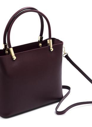 Большая женская сумка. италия. натуральная кожа