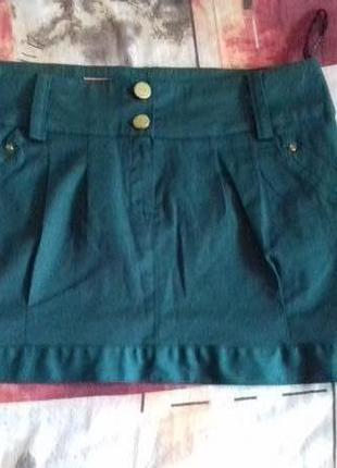 Яркая мини юбка 36 размер