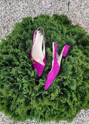 Стильные замшевые туфли, размеры 35-40