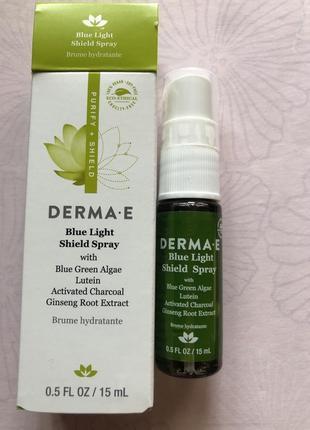 Derma e blue light shield spray увлажняющий фотозащитный детокс спрей