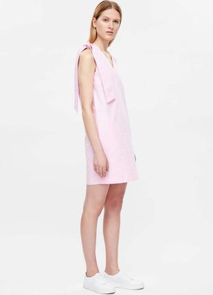 Платье розовое бант cos арт 4052