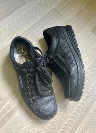 Кожаные стильные мотоботы ботинки mephisto 40 41 26,5 см