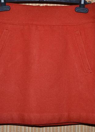 P. м/38/10 швеция-h&m. стильная фирменная полушерстяная юбка.