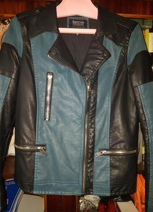 Bershka . кожаная куртка 46 размер.