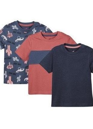 Комплект футболок, 3 шт, футболка, 110-116, lupilu, германия
