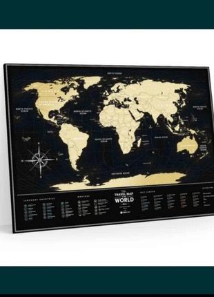 Скретч карта мира black worldот travel map