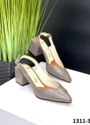 Очень крутые женские кожаные босоножки открытые туфли, бежевые