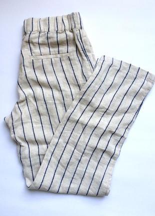 Новые льняные брюки mango (s, m)
