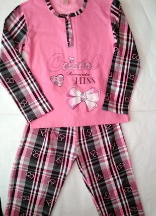 Новая теплая пижама в сердечки, размер l