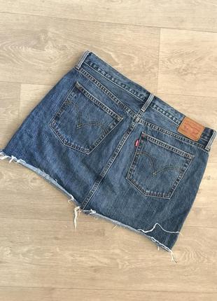 🍀брендовая джинсовая юбка levis, p.xl