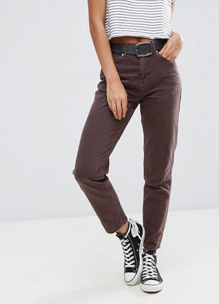 Темно коричневые супер крутые мам джинс big star vintage  , супер качество бананы