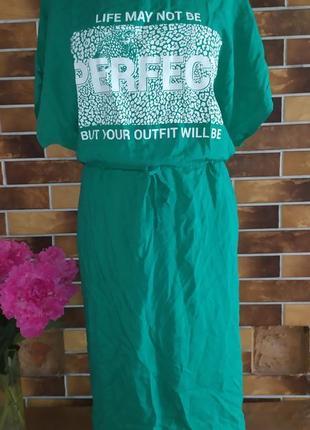 Платье с натуральной ткани штапель размер 54 56