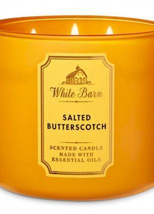 Ароматическая свеча bath and body works, salted butterscotch