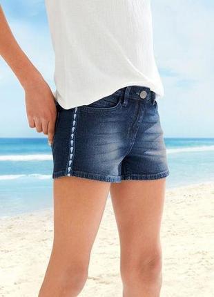 Подростковые джинсовые шорты, 158, 12-13 лет, pepperts, германия