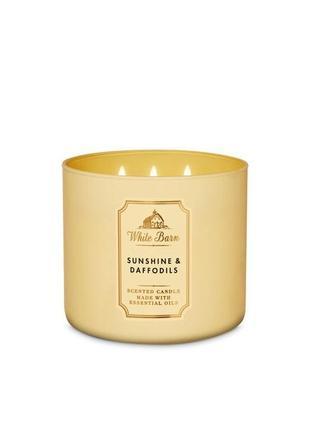 Ароматическая свеча bath and body works, sunshine & daffodils