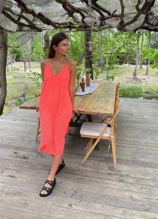 Лёгкое свободное платье «цепочка»