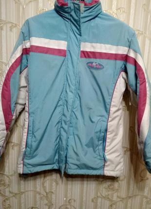 Лыжная демисезонная куртка курточка на 146-152 рост